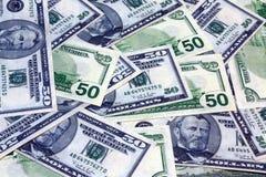 американские доллары банка 50 примечаний Стоковое Изображение