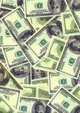 американские доллары деноминаций предпосылки Стоковое Изображение RF