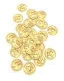 американские доллары золота президентского Стоковые Фото