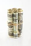 американские доллары предпосылки изолировали белизну стоковое изображение rf