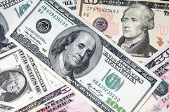 американские доллары текстуры Стоковое Изображение RF