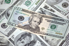 американские доллары 20 кредитки Стоковая Фотография RF