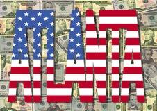 американские доллары atlanta иллюстрация штока