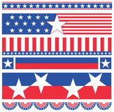 американские знамена иллюстрация вектора
