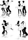 американские диаграммы танцоров латинские Стоковое Изображение