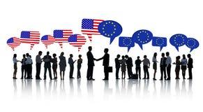 Американские и европейские бизнесмены Стоковая Фотография RF