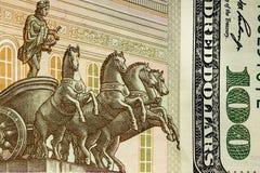 Американские и русские деньги, часть Стоковое Изображение RF