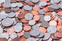 американские монетки предпосылки Стоковое Изображение