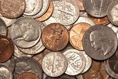 американские монетки Стоковые Фотографии RF