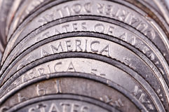 американские монетки Стоковая Фотография