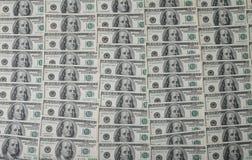 американские доллары кучи как предпосылка Стоковое Изображение RF