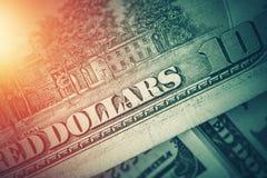 американские доллары предпосылки Стоковая Фотография