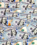 Американские доллары счетов как предпосылка денег Стоковая Фотография