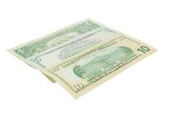 американские доллары Стоковая Фотография