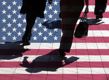 американские покупатели Стоковые Фото