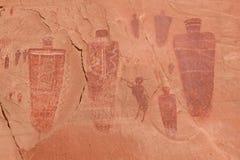 американские родние pictographs Стоковые Изображения