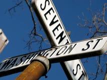 американские старые дорожные знаки Стоковые Изображения