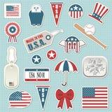 американские стикеры Стоковые Фото