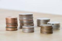 американские стога монеток Стоковые Фотографии RF