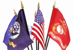 американские флаги воинские Стоковое Фото