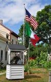 американские флаги итальянские Стоковые Фотографии RF