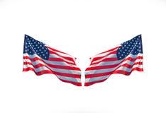 Американские флаги напротив праздновать национальный праздник стоковые изображения rf