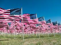 американские флаги Стоковые Изображения RF