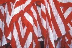 Американские флаги, меньший утес, Арканзас стоковое фото rf