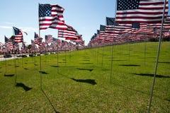 американские флаги Стоковая Фотография