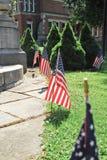 американские флаги Стоковое Изображение RF