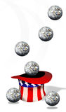 Американские шарики денег Стоковое Фото