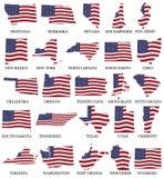 Американские штаты от m к w бесплатная иллюстрация