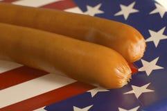 американские frankfurters Стоковое фото RF