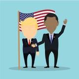 Американские politians совместно бесплатная иллюстрация