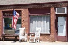 американский античный старый магазин Стоковая Фотография
