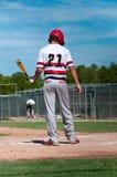 Американский бейсболист вверх на летучей мыши Стоковые Изображения