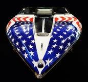 Американский быстроходный катер - покрашенный с государственный флаг сша Стоковое Фото