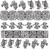 американский вектор иллюстрации иконы культуры Стоковые Фото