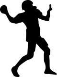 американский вектор силуэта футболиста Стоковое Фото