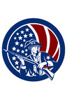 Американский вектор ClipArt - американский патриот, ветеран Стоковые Фотографии RF