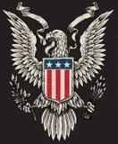 Американский вектор Linework орла Стоковые Изображения RF