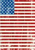 Американский вертикальный флаг Стоковое фото RF