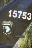 Американский вертолет UH-1H Huey в хие музея обмылков войны Ho Стоковое Изображение RF