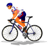 Американский велосипедист дороги Стоковое фото RF
