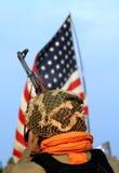 американский воин Стоковое Изображение