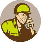 американский говорить воина радио Стоковое Изображение RF