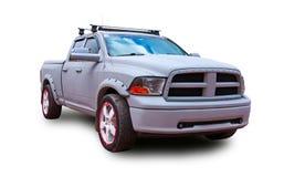 американский грузовой пикап Белая предпосылка Стоковое Изображение RF