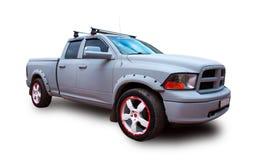 американский грузовой пикап Белая предпосылка Стоковые Изображения RF