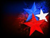Американский День независимости с стильными звездами иллюстрация вектора