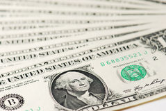 американский доллар одно Стоковые Фотографии RF